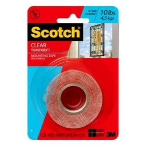 3M CINTA ADHES DOBLE CARA CLEAR 2.54CMX 1.52M