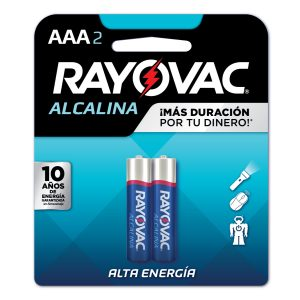 BATERIA RAYOVAC ALCALINA AAA BL-2