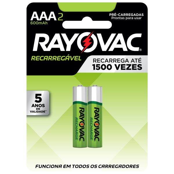 BATERIA RAYOVAC RECARGABLE AAA BL-2